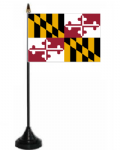 Maryland Desk / Table Flag with plastic stand and base.
